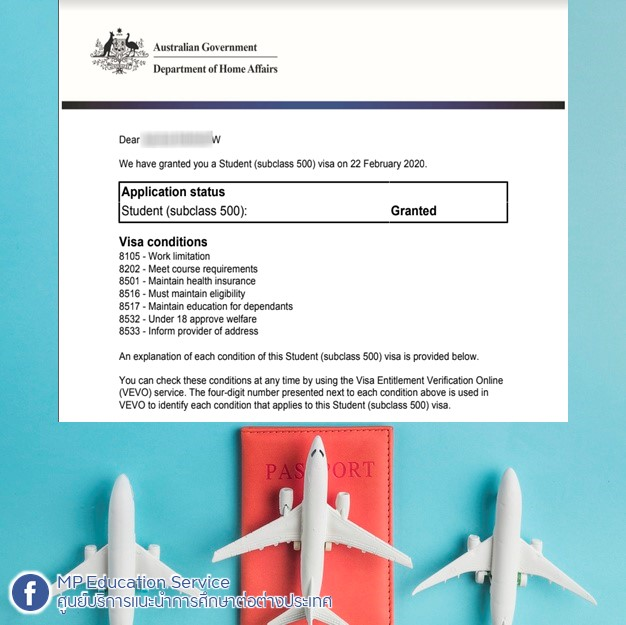 Another VISA Granted! Hurry up to contact MP for your Student VISA renewal